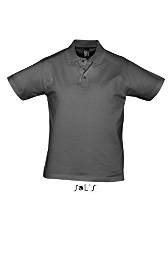 SOL´S Men Polo Shirt Prescott, Größe:S, Farbe:Dark Grey (Solid)