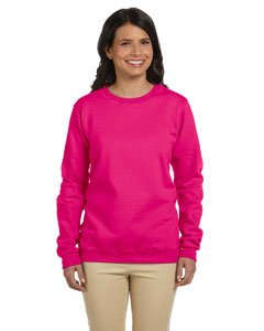 Gildan Womens 8 oz. Heavy Blend 50/50 Fleece Crew G180FL -HELICONIA XL