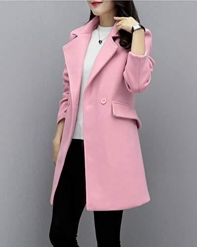 Mujer Abrigos Invierno Parka Larga Chaquetas Gladiolusa Manga Pink qWpTa