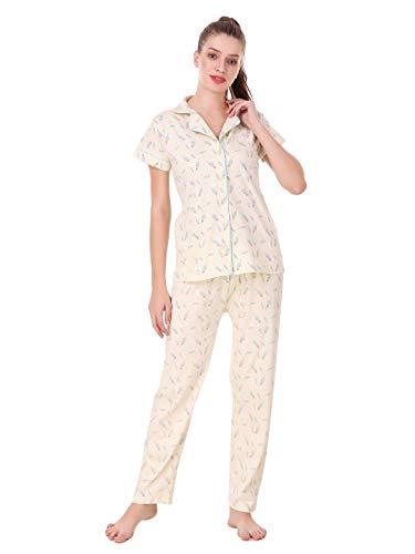 Masha Women's Cotton-Night Suit Front Open