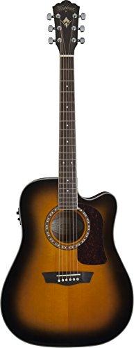 Washburn HD10SCTB-O Heritage 10 Series Acoustic Cutaway Guitar, Tobacco Burst Gloss