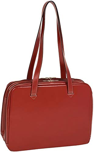 McKleinUSA Evanston 94346 W Series Italian Leather Ladies Briefcase (Red)