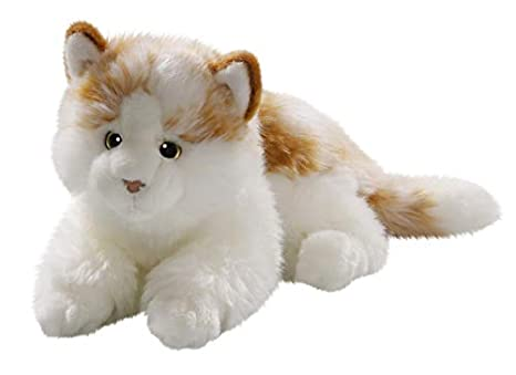 Amazon.com: Cat Lying Brown-White 10 inches, 26cm, Plush Toy ...