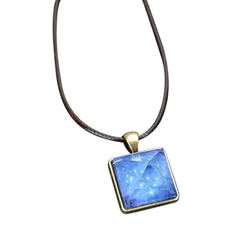 Gems Jewellery 4 C - Hmlai Clearance! Women Fashion Pyramid Natural Night Light Crystal Illusion Luminous Star Necklace Mother's Day Jewelry Gift (C)