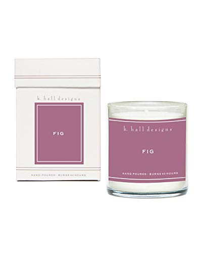 K. Hall Designs Boxed Glass Candle, FIG #98 Scent, 8 Ounces ()