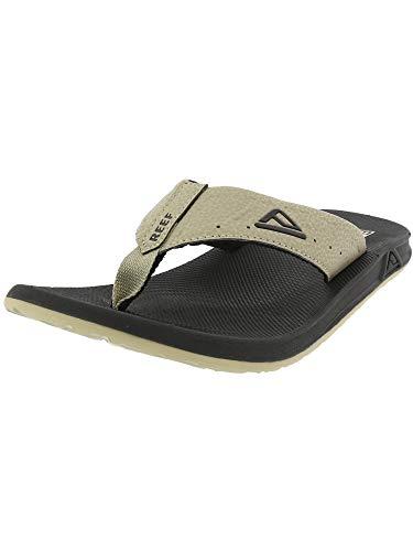 Reef Mens Phantom Sandals, Black/Tan , 11 M US