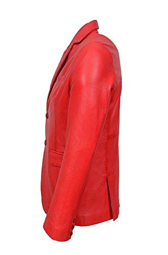 Pelle Uomo Napa Di Range Agnello Giacca Classic Millano Smart Blazer 2 Nuovo Bottone Rosso 3450 Aq88wOfH
