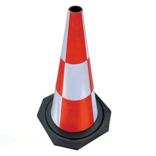 (ZWS Safety Rubber Road Cone Full Reflective Isolation Cone Traffic Facilities Collision Traffic Cone Sign Board (Color : 1 Packs, Size : 50cm))