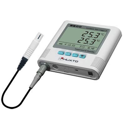 (MeterTo S500-EX USB Large LCD Temperature Humidity Data Logger -40~+85℃ 0~100% RH Recording 4,3000 External 3m Sensor 2 Channels Built-in Sound/led Alarm)