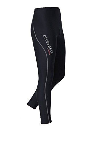 DIVE & SAIL Men's Wetsuit Pants 1.5mm Neoprene Diving Snorkeling Scuba Surf Canoe Pants, Grey Trim, XX-Large (Surf Skin Pant)