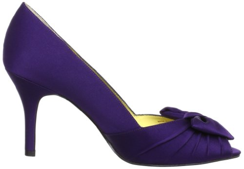 Nina Womens Forbes In Raso Peep-toe Pump In Raso Lucido