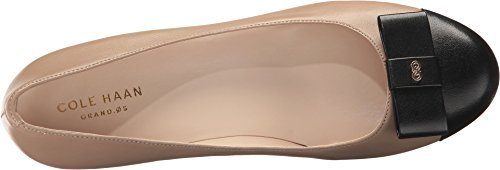 Cole Haan Womens Elsie Bow Wedge 65mm 10.5 Maple Sugar Leather-Black Patent