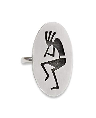 Firebird Jewelers Hopi Silver Overlay Kokopelli Women's Ring Size 6.5