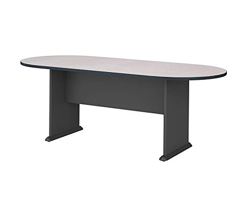 (Bush Businеss Furniturе Office Home Furniture Premium Series C 82W x 35D Racetrack Conference Table, Slate with Graphite Gray)