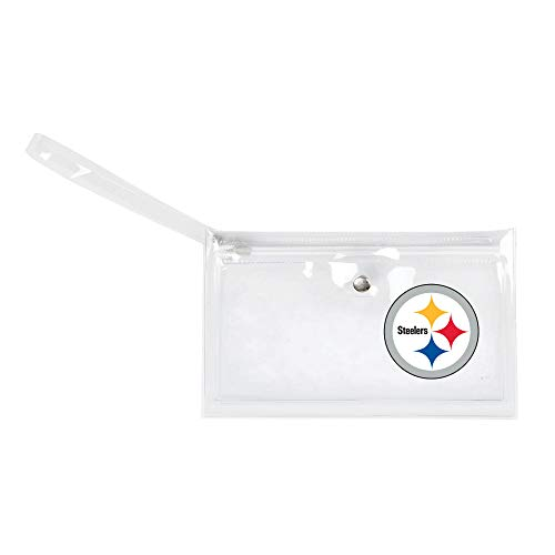 Littlearth - LIWXY NFL Pittsburgh Steelers Unisex Nflnfl Ticket Wristlet, Clear, 9