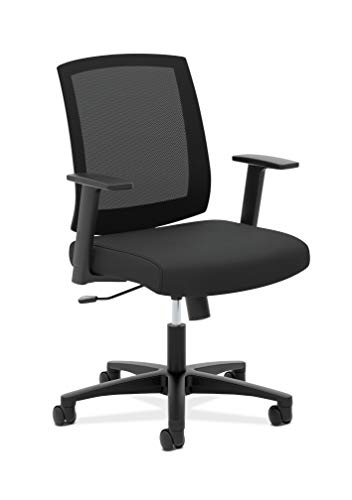 HON Torch Mesh Task Chair – Mid-Back Office Chair, Black (HVL511)