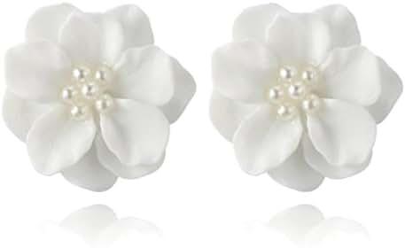 Women Earrings 2018 Flower Earrings Crystal Clip On Stud Earrings Fashion Jewelry Eardrop for Women Girls