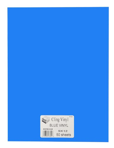 Grafix 9-Inch-by-12-Inch Cling Film Blue, 50-Pack