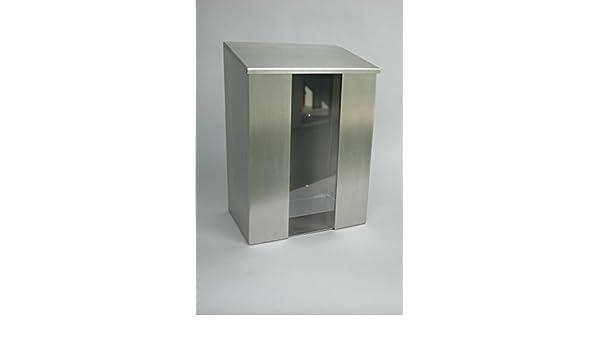 bicap dispensador de acero inoxidable con ventana para desechables tapas, soporte para redes Cabello Protección, barba, dispensador, dispensador, ...