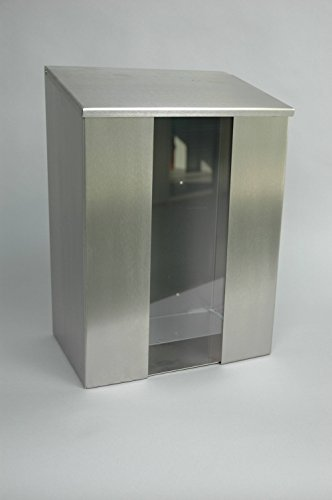 bicap dispensador de acero inoxidable con ventana para desechables tapas, soporte para redes Cabello Protección