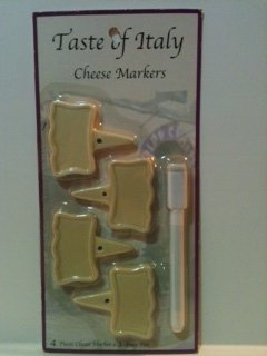 Taste of Italy Cheese Markers (4pc &1 marker) by Bluebonnet Bargains