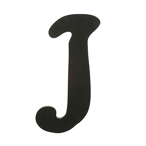 Darice 9189-J Solid Wood Letter, Capital, 9'', J, Black by Darice (Image #1)