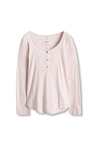 edc by Esprit 096Cc1K057, Camiseta de Manga Larga Para Mujer Rosa (Pastel Pink 695)