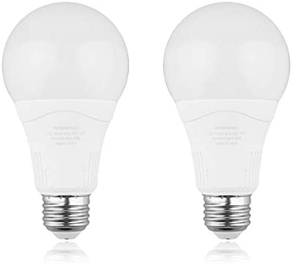 Radar Motion Sensor Light Bulb, 2 Pack A21 15W (100W Equivalent) 1500LM E26 Dusk to Dawn LED Bulbs Outdoor Lighting, Auto Motion Detector Light for Garage, Porch, Driveway, Patio,(Daylight 5000k)
