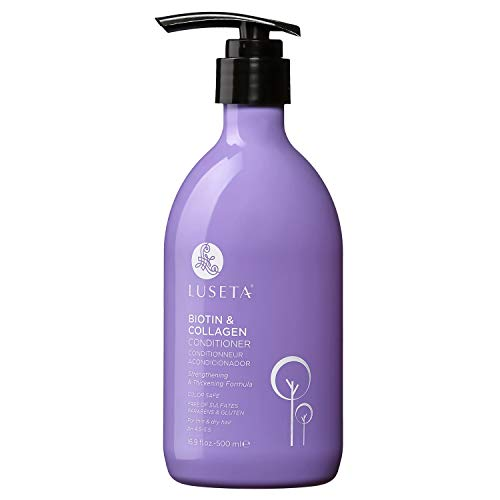 Luseta Biotin & Collagen Conditioner Thickening for Hair Loss & Fast Hair Growth - Infused with Argan Oil to Repair Damaged Dry Hair - Sulfate Free Paraben Free 16.9oz