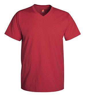 Hanes Men's Cotton Nano V-Neck T-Shirt,Vintage Red,XL (Mens Red T Shirt Xl)