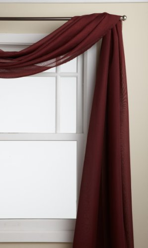 LORRAINE HOME FASHIONS Reverie 60-inch x 216-inch Scarf, Burgundy -