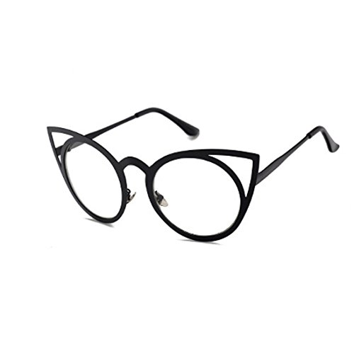 Gafas Lente metal sol ojo Negro Marco Yefree Gafas sol Gafas de Redondo de de gato Espejo Unisex de wHxH7P