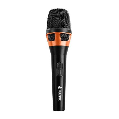 FEEMIC Dynamisches Mikrofon mit Hand Vocal Mic mit 6.3mm Stecker
