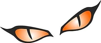 Aufkleber Für Motorradhelm Und Auto Motiv Böse Augen Abmessung 80 X 40 Mm Je Auge Orange 1 Paar Auto