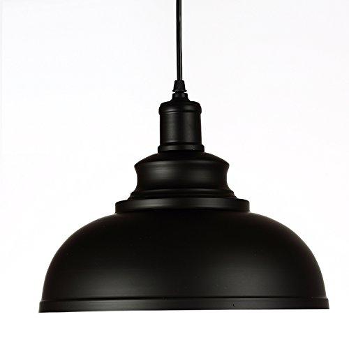 WINSOON 1PC Modern Style Metal Ceiling Lamp Wall Vintage Loft Pendant Light Retro Industrial (Black)
