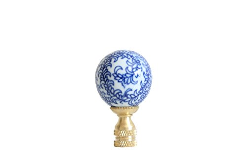 Blue and White Floral Pattern Porcelain Lamp (Asian Porcelain Lamps)