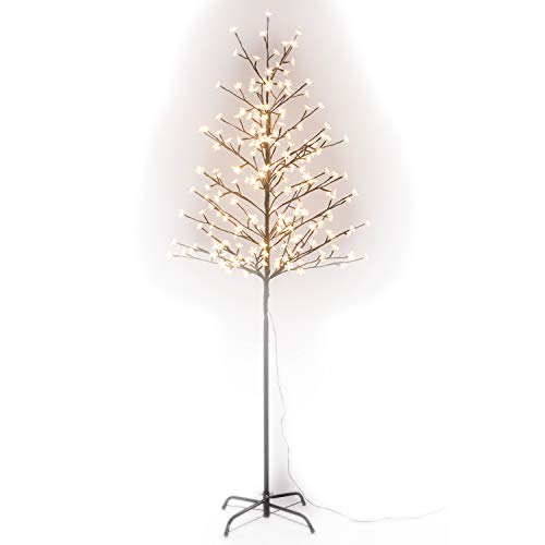 GOJOOASIS 6 Feet Cherry Blossom Tree 208 LED Lights Warm White for Home Christmas Wedding Festival Party Decoration Indoor and Outdoor Use