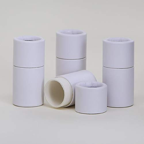 1/4 OZ White Kraft Paperboard Lip Balm/Salve/Cosmetic/Lotion Tubes x300