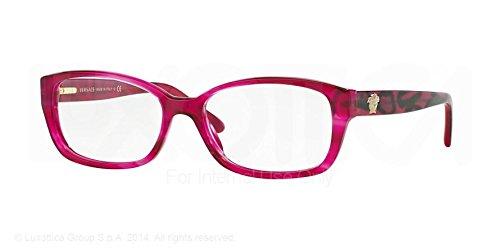 Versace Eyeglasses VE3207 5132 Transparent Fuxia 52 16 - Versace Glasses Pink