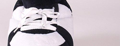 Happy Feet Mens and Womens Standard Sneaker Slippers Black and White nHwUu56kax