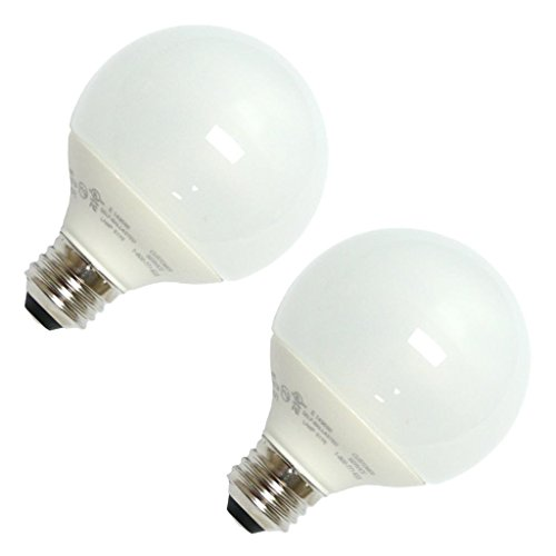 TCP 06299 - 8060092 2PK Globe Screw Base Compact Fluorescent Light Bulb