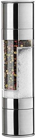 Molinillo de Pimienta y Sal 2 en 1 Moledor de Acero Inoxidable Coctelera con Núcleo de Molienda de Cerámica y