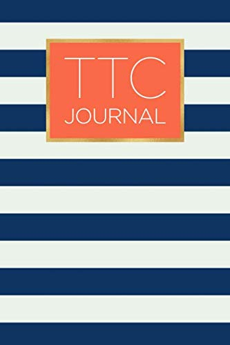 otebook with motivational and inspiring quotes: Stylish navy stripe and coral design ()