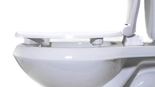 Centoco HL440STS-001 Round 2'' Lift, Raised Plastic Toilet Seat, Closed Front with Cover, ADA Compliant Handicap Medical Assistance Seat, White by Centoco (Image #3)
