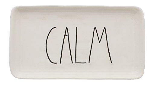 Rae Dunn by Magenta Ceramic CALM LL Tray by Rae Dunn