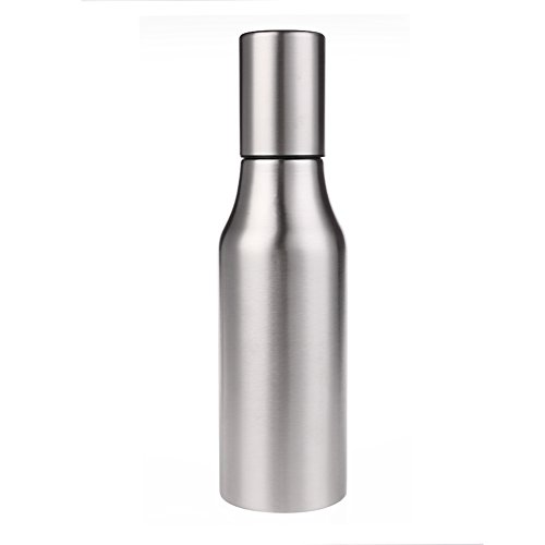 Ailier Olive Oil Dispenser 304 Stainless Steel 750ml Oil Bottle-All Made of Food Grade Material Oil Dispenser,Cruet For Vinegar,Soy sauce And More (750ML)