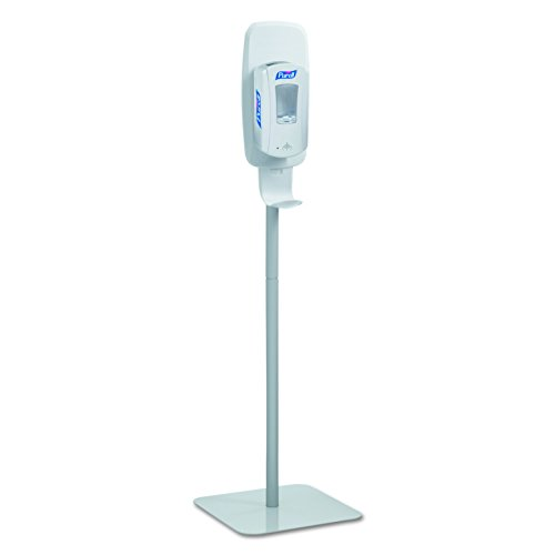 "GOJO Industries 2424-DS Purell Floor Stand Gray (Dispenser Sold Separately) Plastic, 6.25"" x 23.75"" x 16.37"""