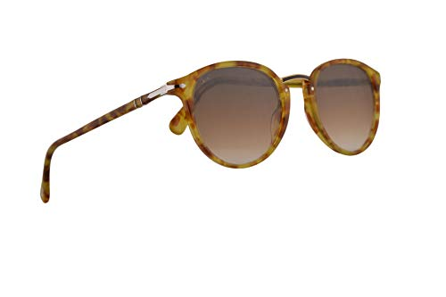 Persol 3210-S Sunglasses Tortoise Yellow w/Clear Gradient Brown Lens 54mm 106151 PO 3210S PO3210S ()