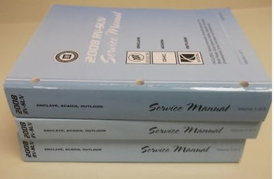 2008 SATURN OUTLOOK GMC ACADIA BUICK ENCLAVE Service Shop Repair Manual Set OEM (3 volume set..)