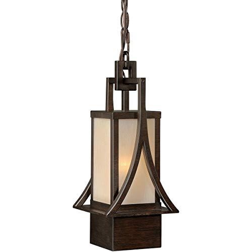 Outdoor Pendant 1 Light Fixtures with Venetian Bronze Finish Steel Material Medium 8